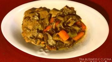 pollo con carote e funghi
