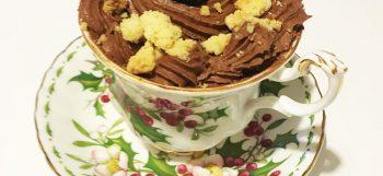 mousse al cioccolato e granella