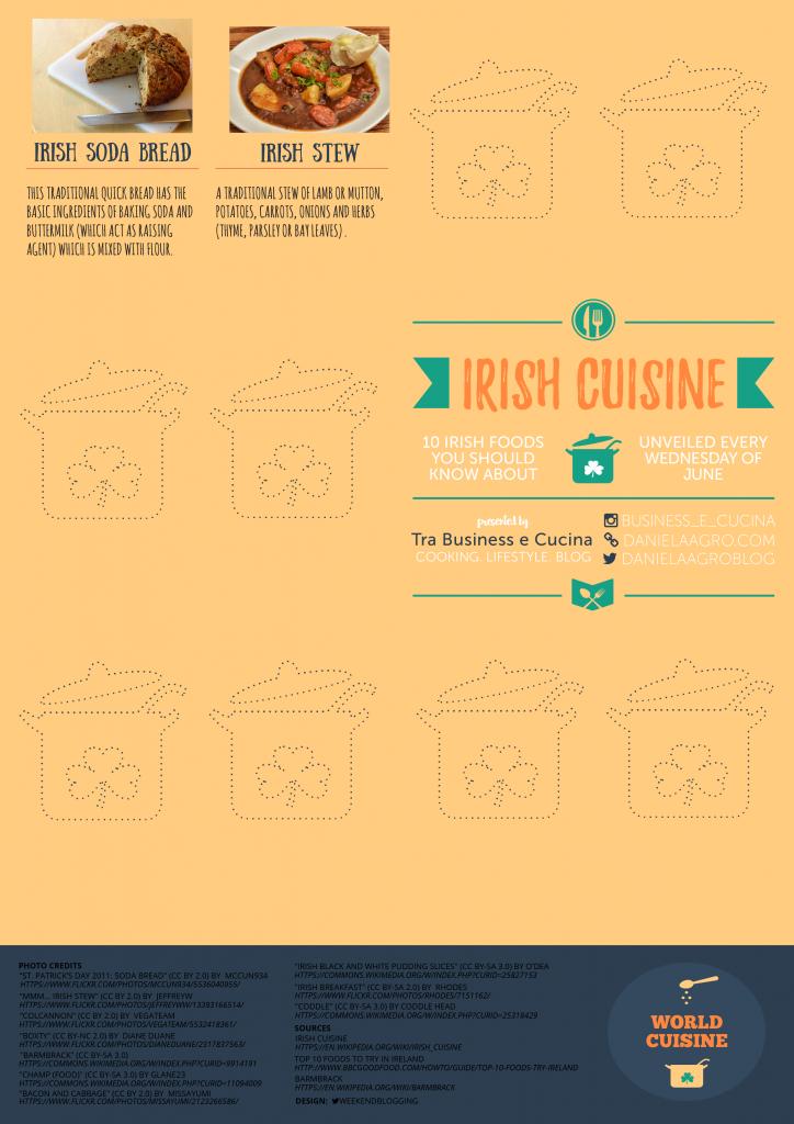 Irish cuisine - Irish soda bread and Irish stew