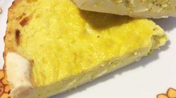 tortino con crema di porri