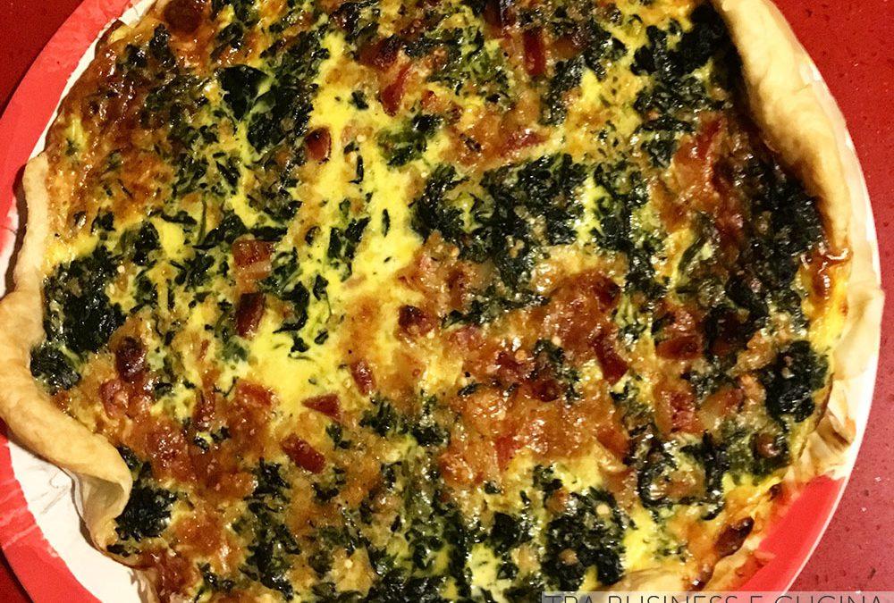 Quiche spinaci e pancetta
